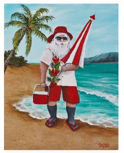 Beachen Santa - painting of the Week